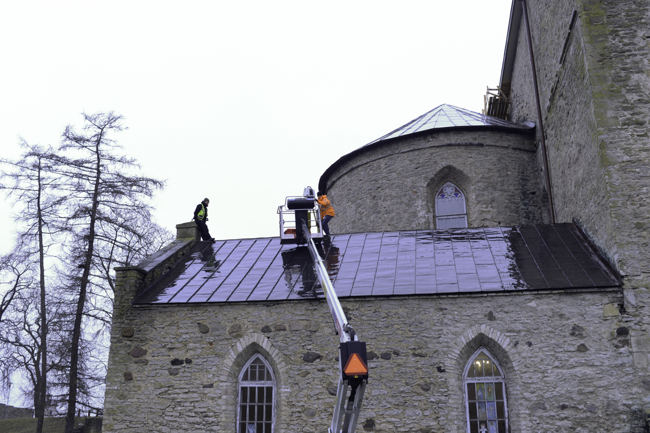 Laser scanning and 3D modelling of the cathedral in Haapsalu