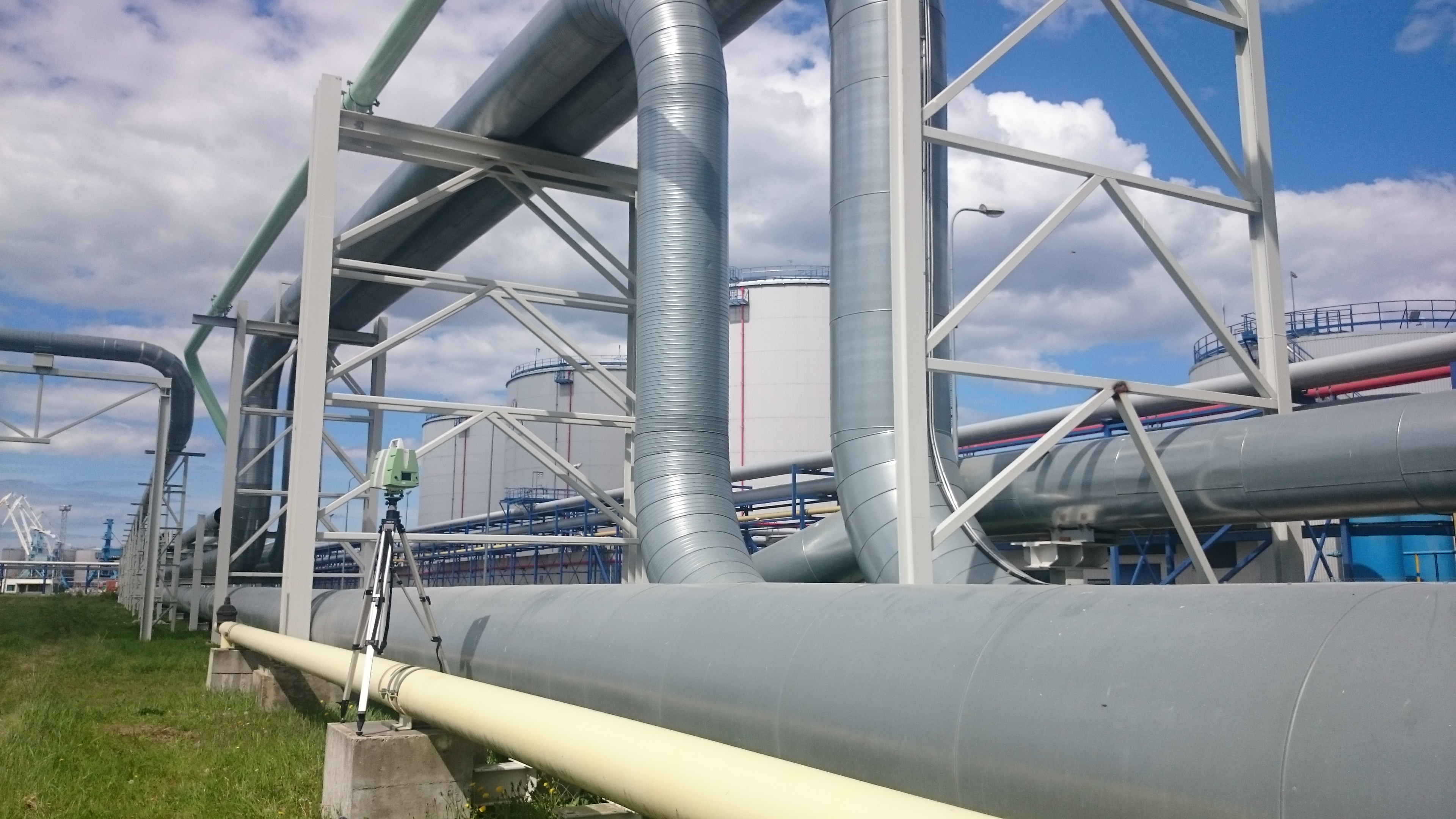 Laser scanning and 3D modelling of the pipes in Port of Muuga, Estonia