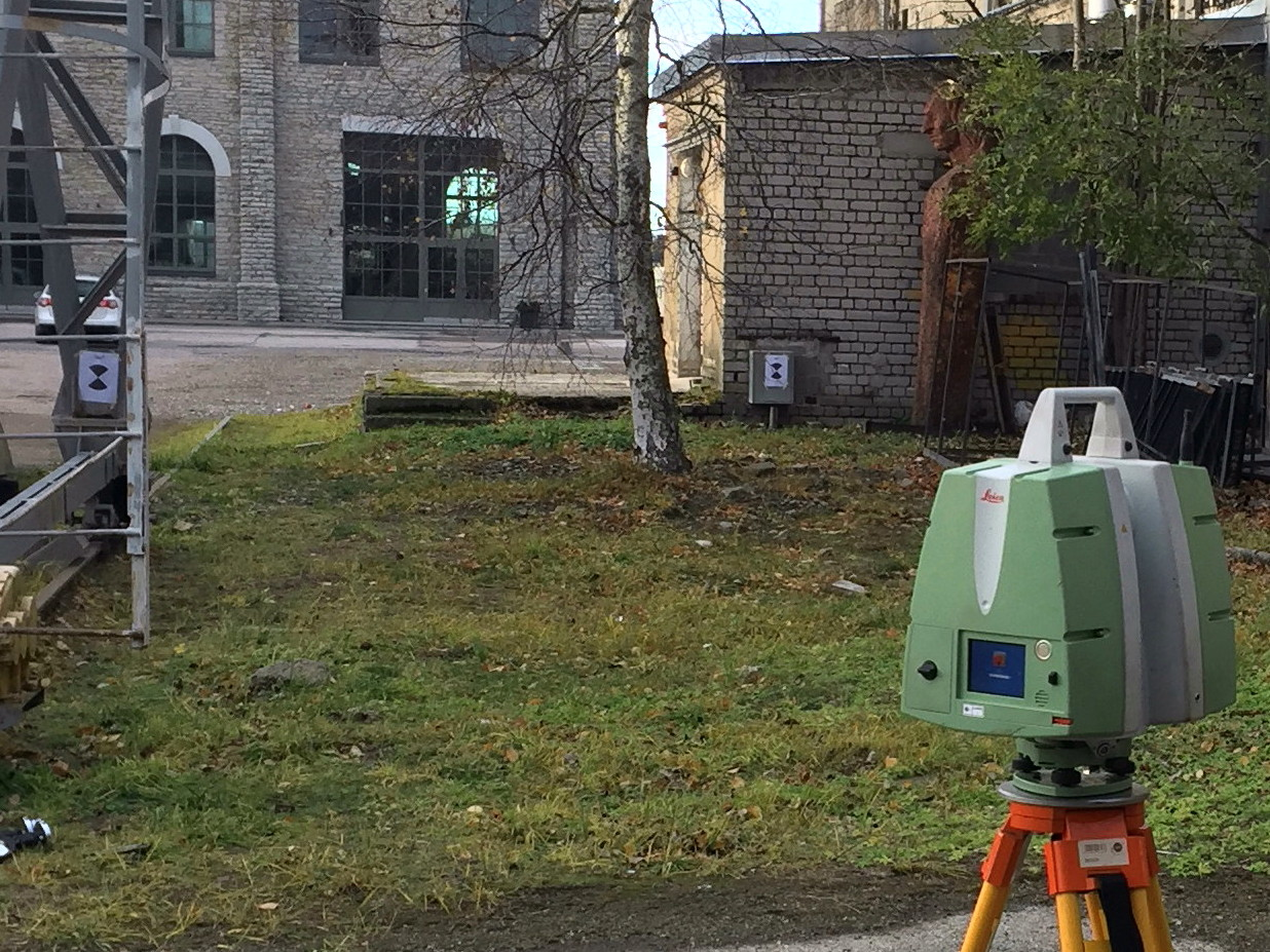 Laser scanning of the foundry building in Noblessner shipyard in Tallinn