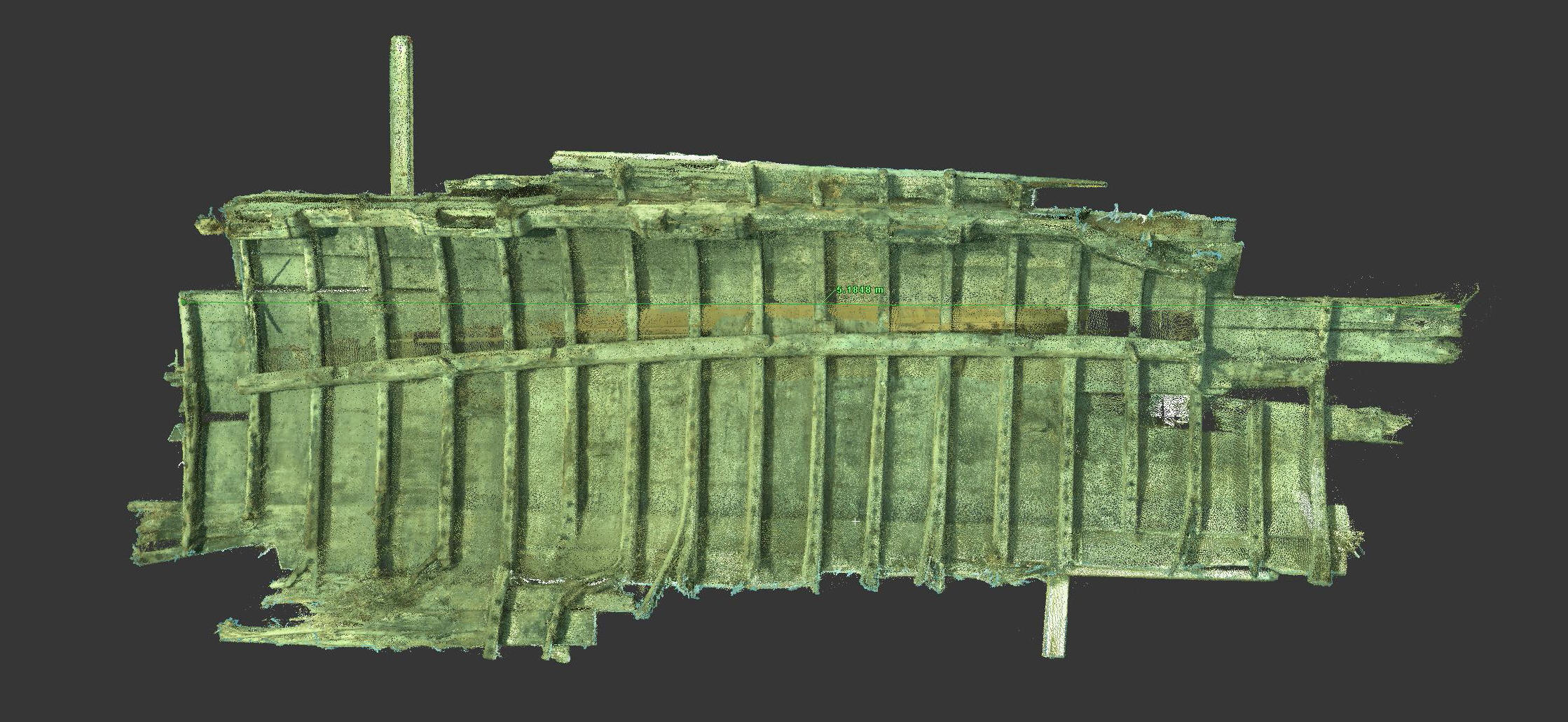 Laser scanning of the ancient shipwrecks in Tallinn