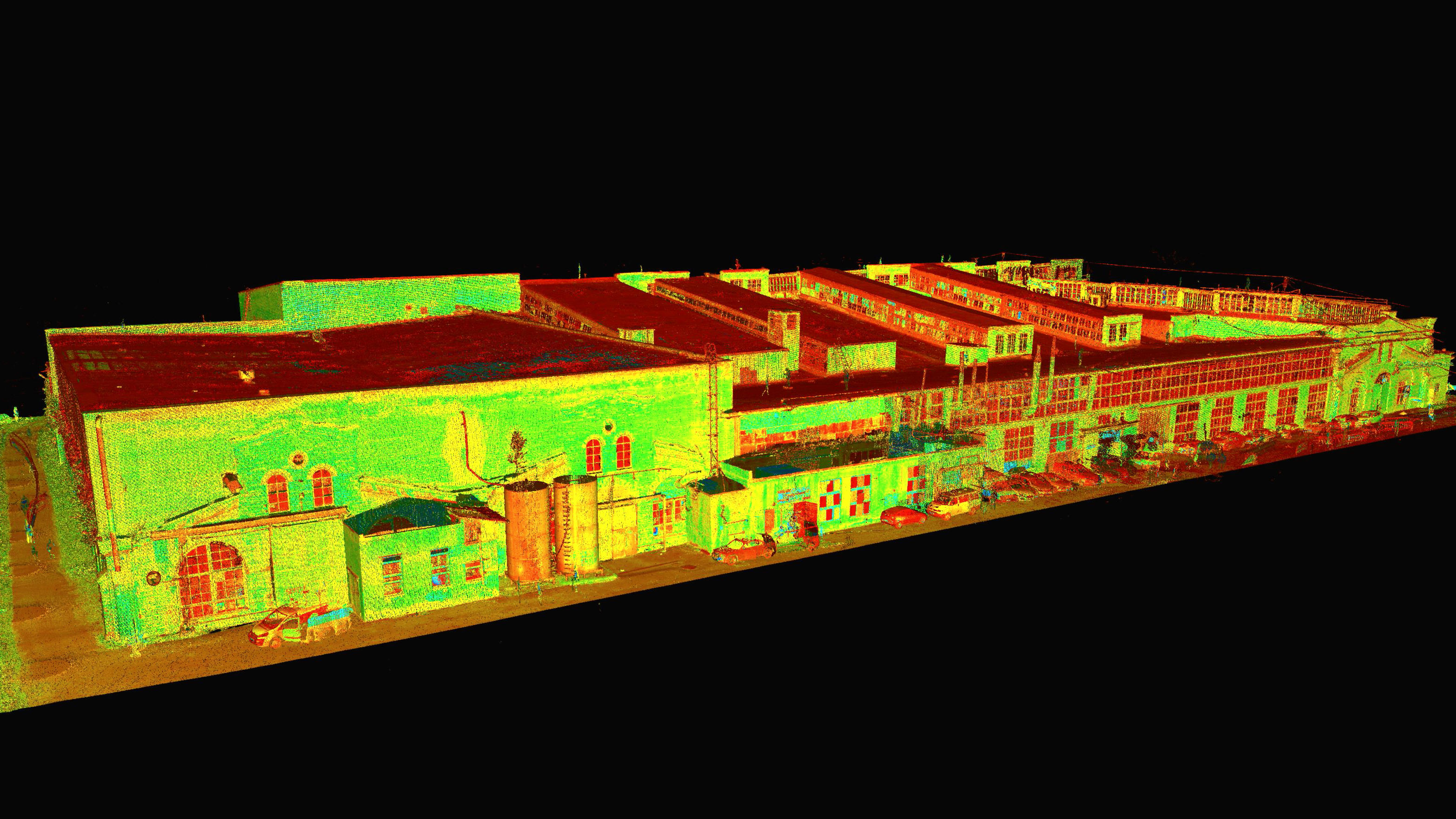 Laser scanning of the M-building in Telliskivi district, Tallinn