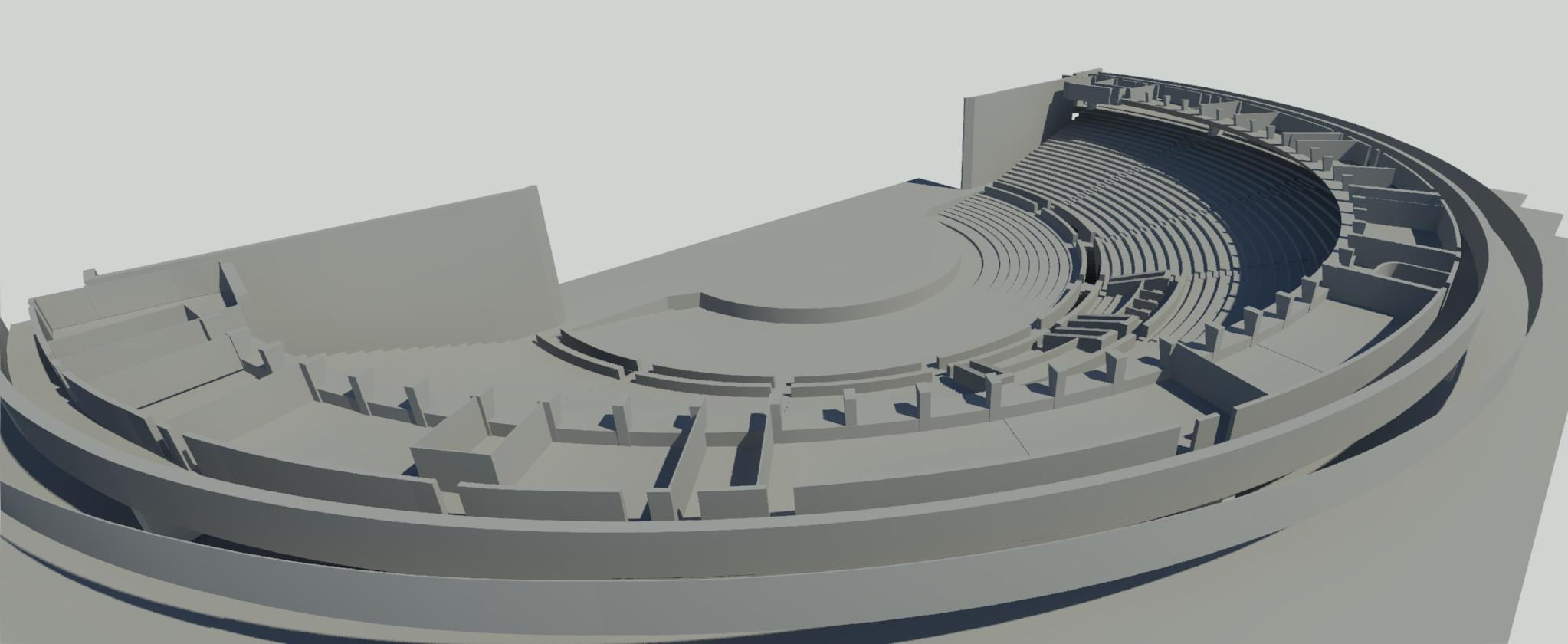 Laser scanning and 3D modelling of the concert hall of the Tallinn Linnahall