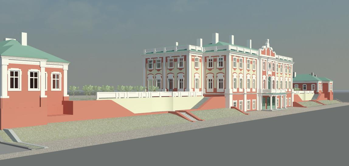 Laser scanning and 3D modelling of the Kadriorg Palace in Tallin