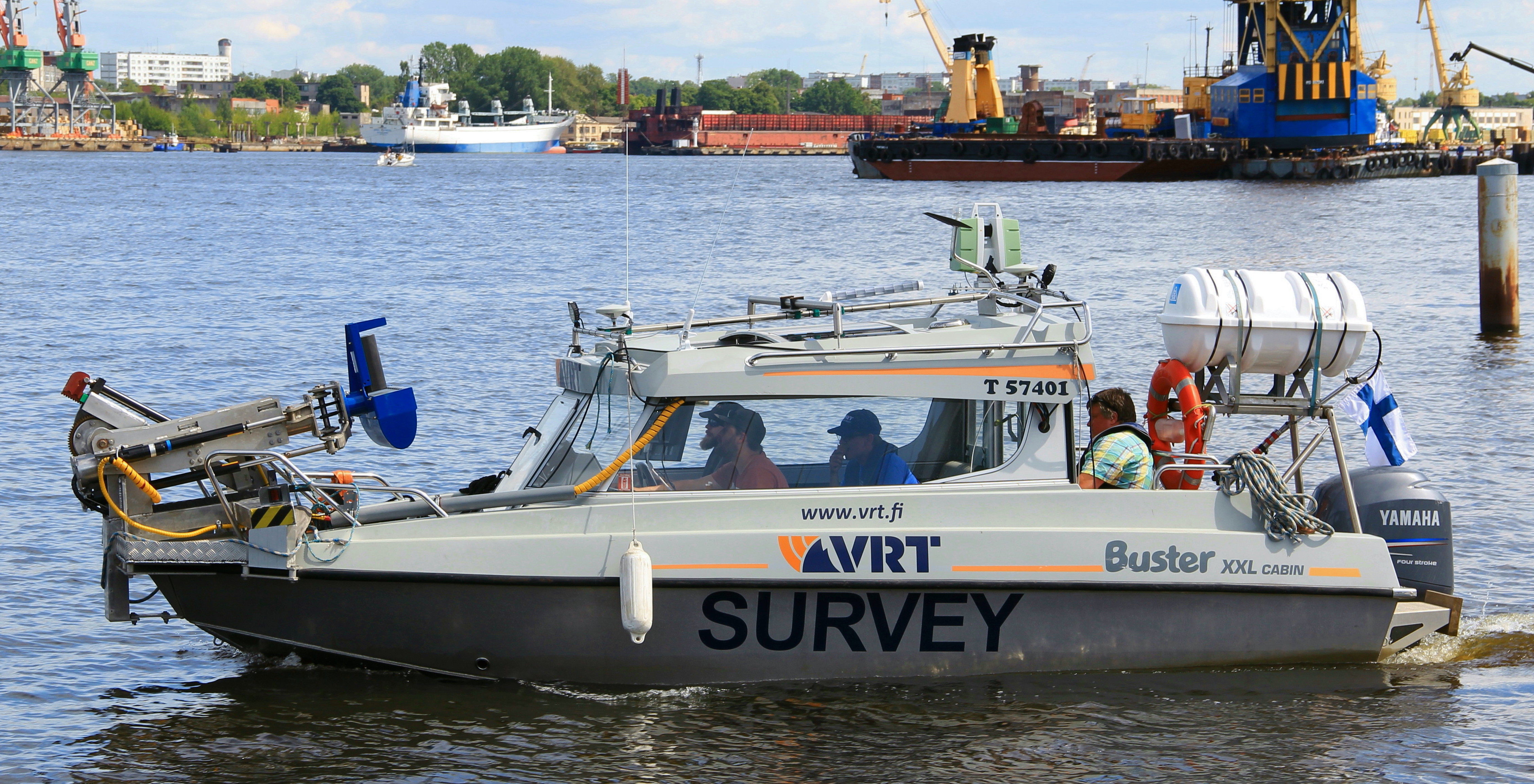 Laser scanning of the quays of the Port of Riga, Latvia