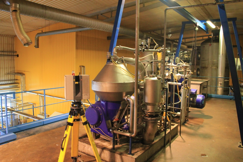 Laser scanning of the canola oil factory of Scanola Baltics AS