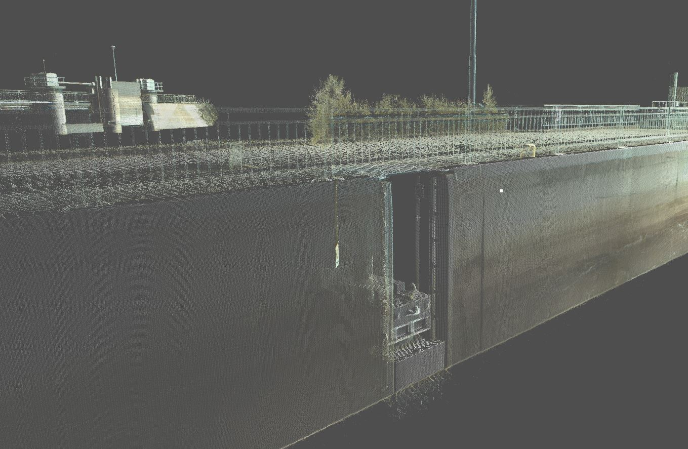 Laser scanning of Paatela, Vaajakoski and Kuhankoski locks and the bridge in Lehdesmäe in Finland