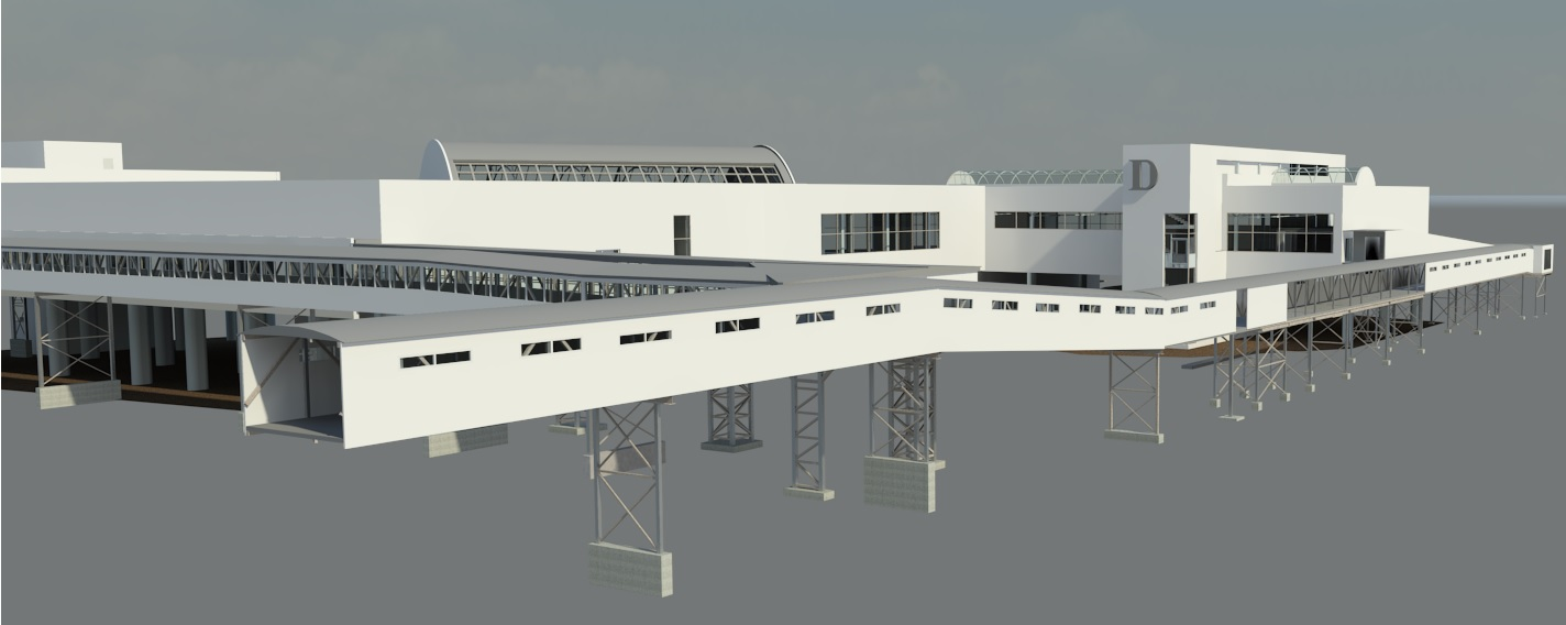 Laser scanning and 3D BIM modelling of the Terminal D building in Port of Tallinn
